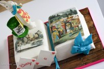 Alice in wonderland birthday cake 5