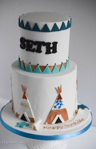 Cowboys and Indians birthday cake