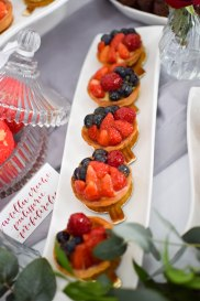 Fruit tarts wedding anniversary